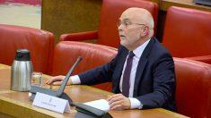El abogado separatista Simeó Miquel, el pasado viernes en la Comisión de Nombramientos del Congreso.