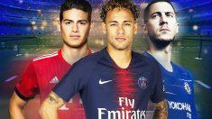 El Real Madrid sueña con James, Hazard y Neymar.