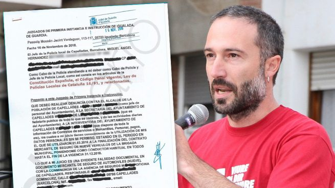 El jefe de la policía local de Capellades denuncia a su alcalde separatista por falsificarle la firma