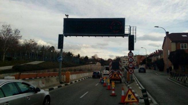 La lluvia está afectando a las carreteras de Madrid.
