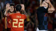 Isco y Asensio celebran un gol ante Croacia. (Cordon Press)