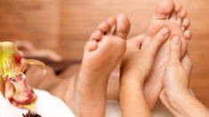Los masajes en los pies son muy relajantes