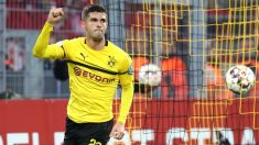 Pulisic celebra un gol con el Dortmund. (Cordon Press)