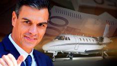 Pedro Sánchez y el modelo de jet privado en el que se desplazó a las elecciones andaluzas