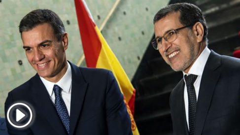 Pedro Sánchez y el Primer Ministro de Marruecos Saad Eddine el-Othmani. (AFP)