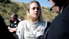 Sophia Floresch, antes de una carrera de Fórmula 3. (Cordon Press)
