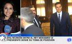 """Propaganda subliminal en TVE: cuela """"PSOE"""" en la palabra """"posesión"""" en una noticia de Sánchez y Mohamed"""