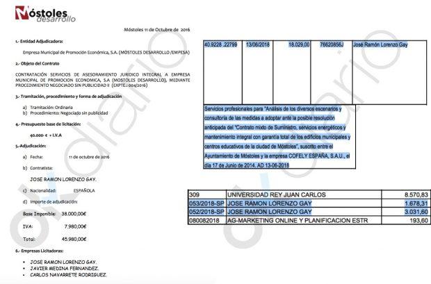 Móstoles contrata por 70.000€ a un abogado afín al PSOE en vez de usar a los letrados municipales
