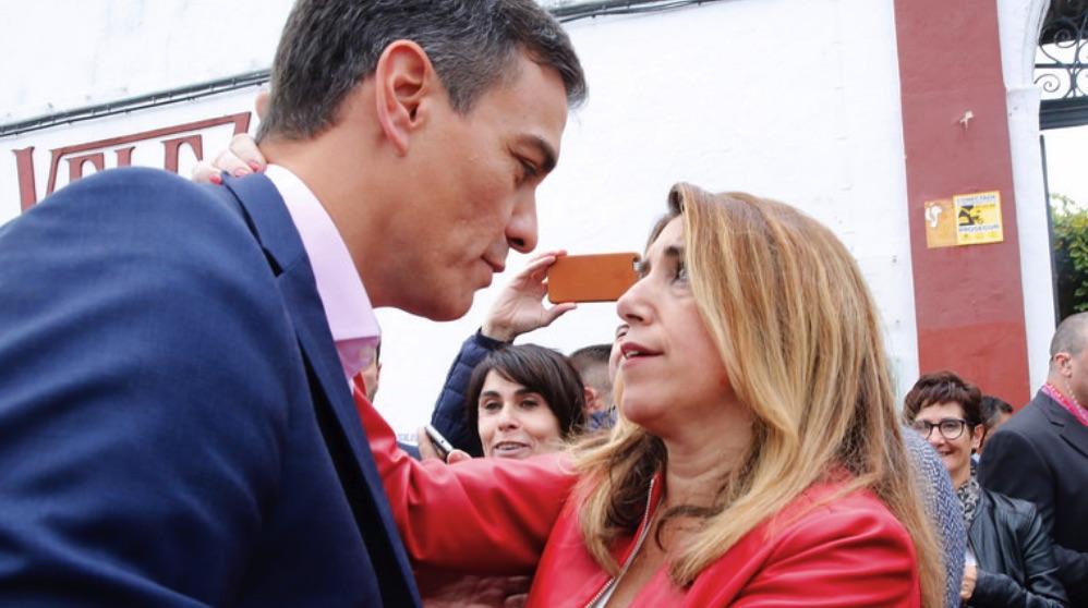 Pedro Sánchez, junto a Susana Díaz, en una imagen de archivo (Foto: PSOE).