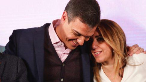 Pedro Sánchez y Susana Díaz. (Foto. PSOE)