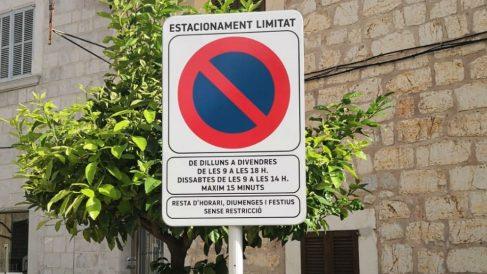 Una señal viaria en catalán. Foto: Europa Press