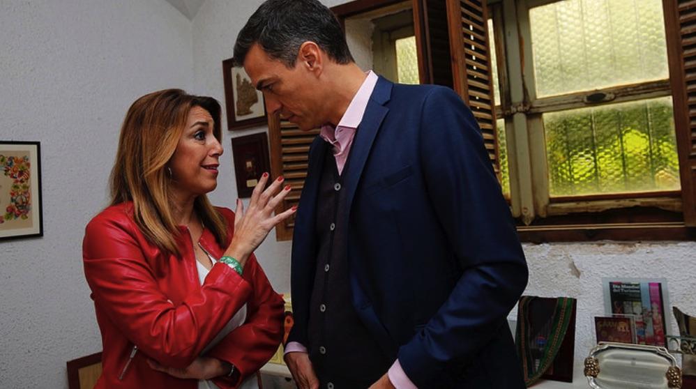 Susana Díaz junto a Pedro Sánchez. (Foto. PSOE)