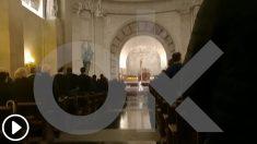 Una misa en la basílica del Valle de los Caídos para rendir homenaje al dictador Franco en el aniversario de su muerte