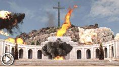 Vídeo de ficción promocional del festival 'Barnasants' en el que se vuela por los aires el Valle de los Caídos