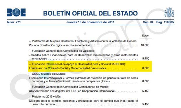Una universidad peruana hizo 'honoris causa' a Ábalos después de que le entregara 8.000€ a su seminario