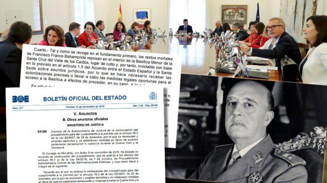 """El Gobierno reconoce que la tumba de Franco es """"inviolable"""" sin la autorización del prior"""