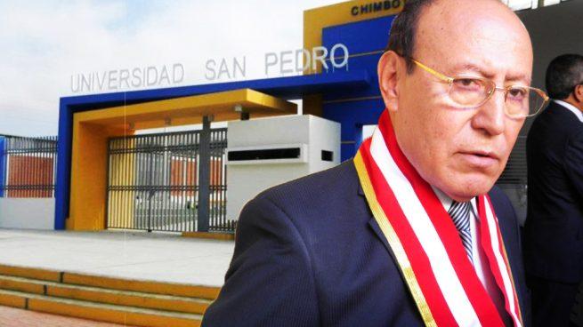 José María Huamán Ruiz, que fue rector de la Universidad de San Pedro