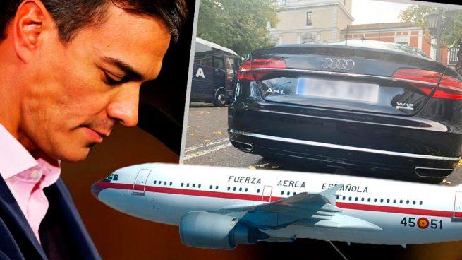 Sánchez mandó su coche oficial vacío a Valladolid para hacer los 8 kms del aeropuerto a la ciudad