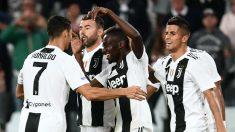 Los jugadores de la Juventus celebran un gol en la Serie A. (AFP)