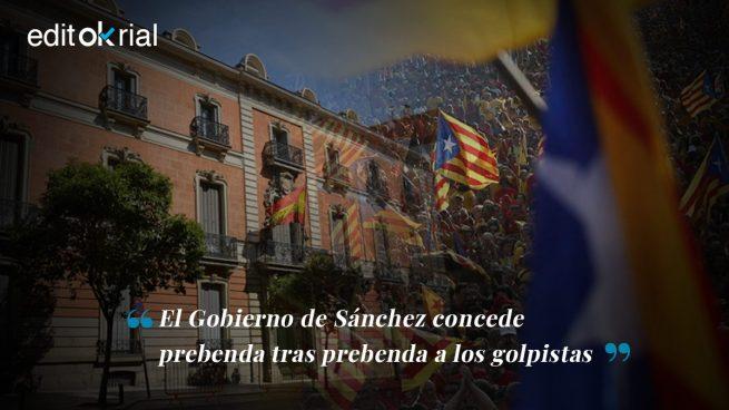 Sánchez no deja de ayudar a los golpistas