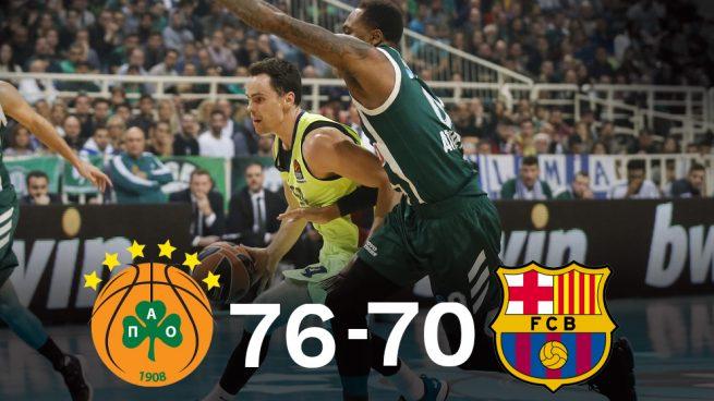 El Panathinaikos acaba con la racha del Barcelona