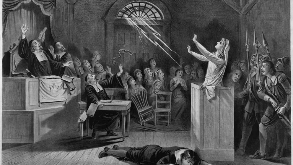 Pintura representando a las brujas de Salem