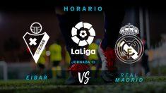 Liga Santander 2018-2019: Eibar – Real Madrid | Horario del partido de fútbol de Liga Santander.