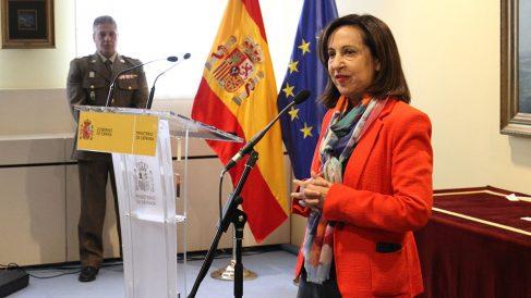 Margarita Robles, en la entrega de Premios del Ministerio de Defensa. (F: Enrique Falcón)