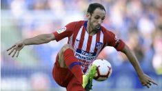 Juanfran, durante un partido del Atlético. (AFP)