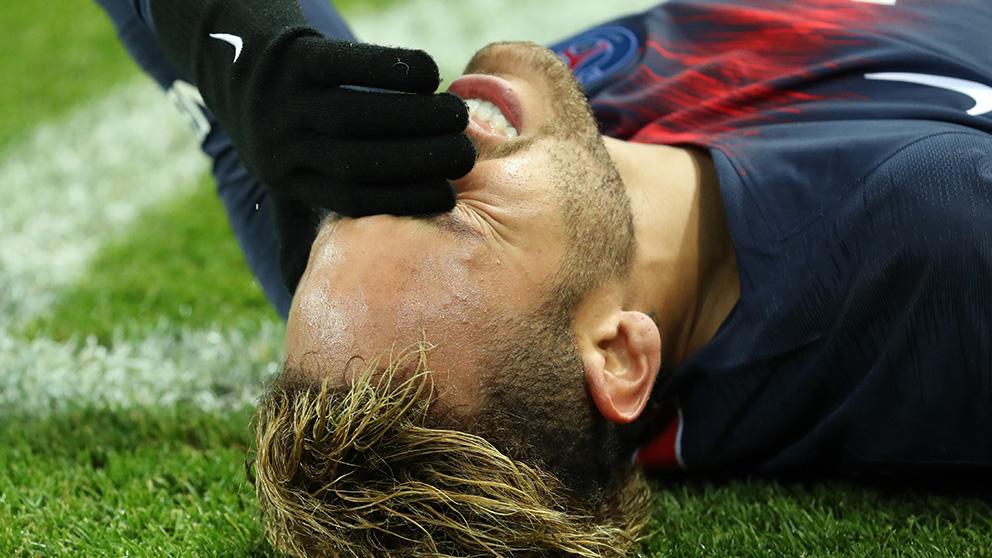 Neymar, en su peor momento.