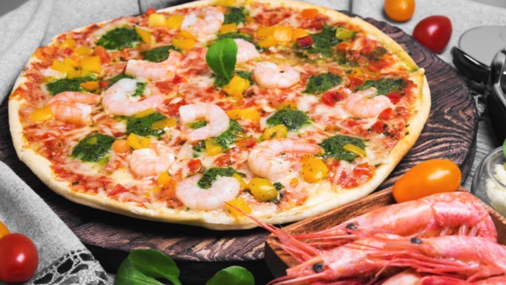 Receta de Pizza de gambas