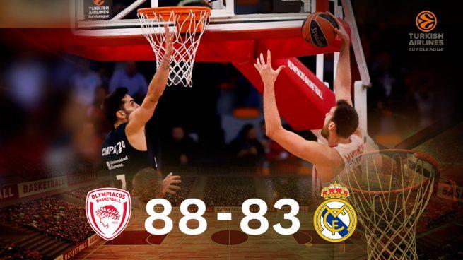 El Real Madrid cae ante Olympiacos y pierde la condición de invicto en Euroliga