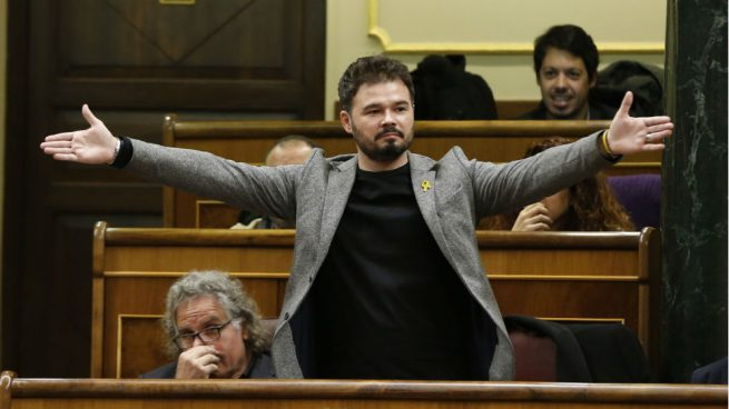 Rufián se ha embolsado 150.000 € del Congreso desde la fecha que prometió dejar el escaño