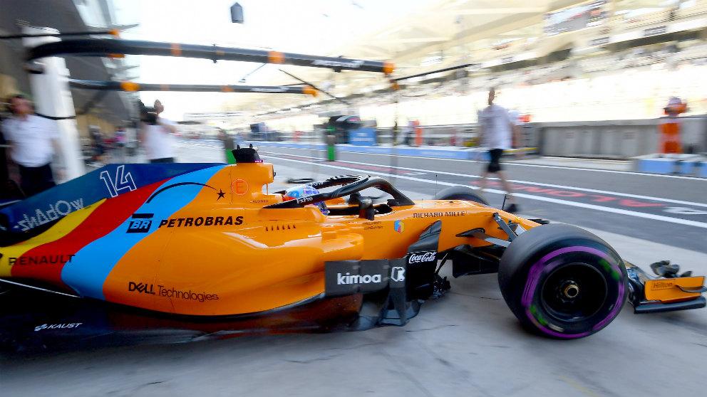 Fernando Alonso, durante el GP de Abu Dabi. (Getty)