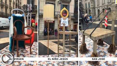 El belén navideño de este año organizado por Ada Colau (Vídeo: Manolo Riera)