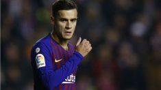 Coutinho durante un partido con el Barcelona esta temporada. (AFP)