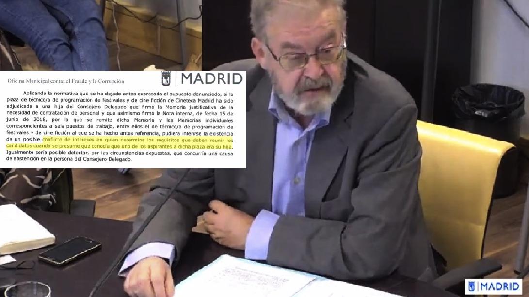 El CEO de Madrid Destino y extracto del informe.