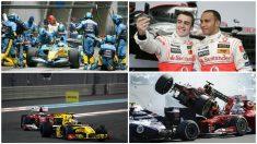 Algunos momentos de la carrera de Fernando Alonso, marcados por la mala suerte.