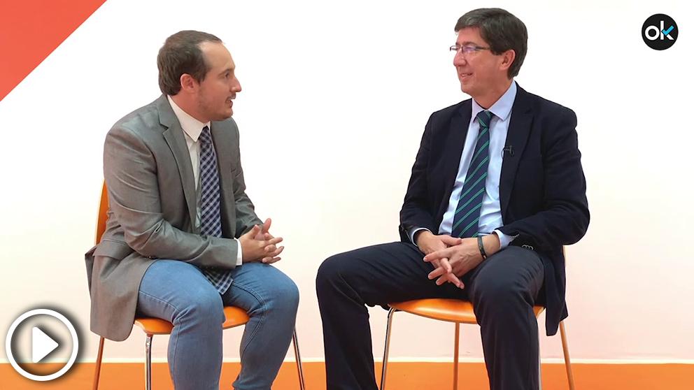 OKDIARIO entrevista al candidato de Ciudadanos a las elecciones andaluzas del 2D, Juan Marín