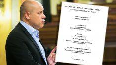 El diputado de ERC Jordi Salvador y su tesis doctoral. (Foto: Congreso/OKDIARIO)