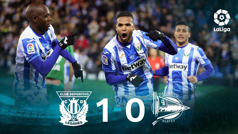 El Leganés gana al Alavés. (EFE)