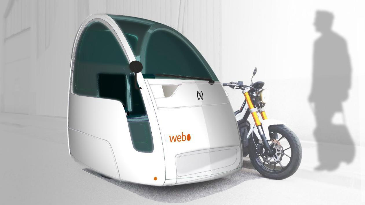 Así serán los nuevos vehículos eléctricos Webo, motos con sidecar