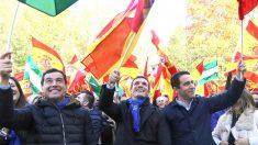 Casado y Moreno este sábado en un acto electoral en Granada (Foto: EFE).