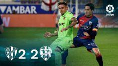 Huesca y Levanten empatan.