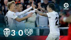 El Valencia gana al Rayo. (EFE)