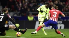 Dembélé anotó el gol del empate para el Barcelona. (AFP)