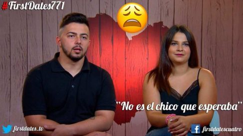 María y Adrián en 'First Dates'