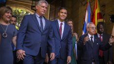 Pedro Sánchez en Cuba con Miguel Díaz-Canel (Foto: EFE)