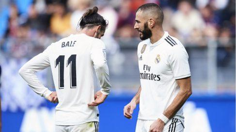 Bale y Benzema, en un partido con el Real Madrid. (Getty)