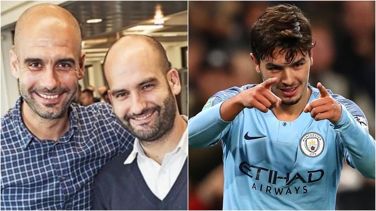 Los hermanos Guardiola y Brahim Díaz.